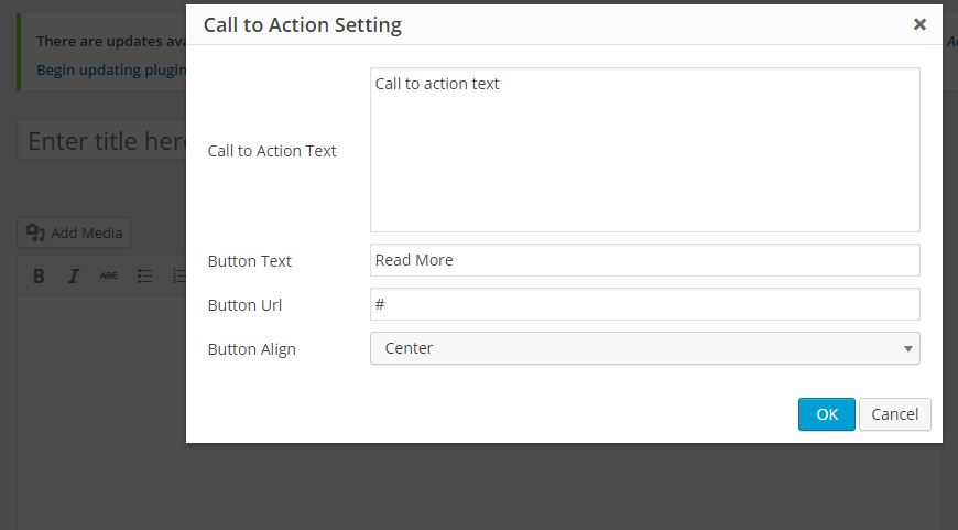 callto action shortcode